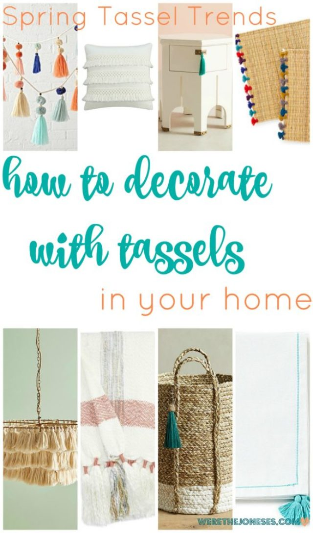 How to decorate with tassels in your home