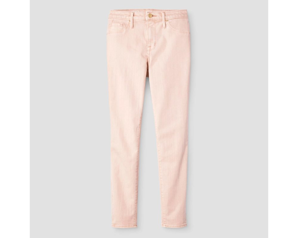 Women High Rise Jegging Crop Pink Mossimo
