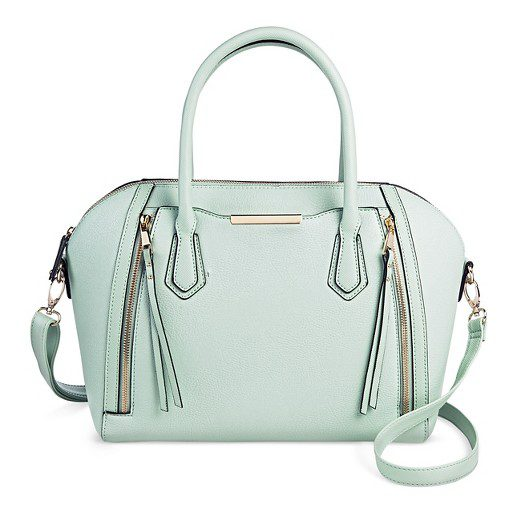 Women Solid Satchel Faux Leather Handbag with Removable Crossbody Strap Mossimo