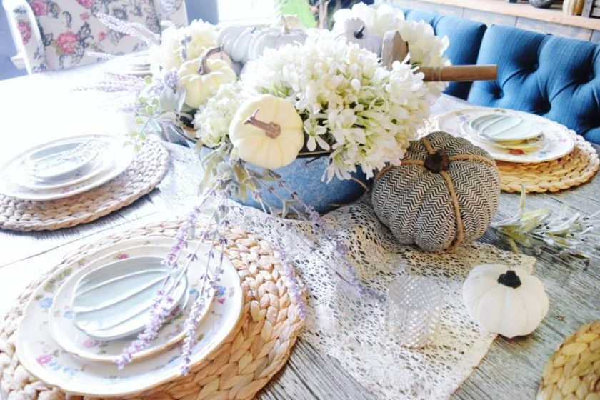 Feminine Romantic Fall Tablescape