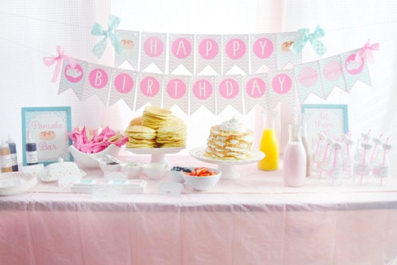 ... pancake and pajamas pancake bar twin birthday party preppy pink birthday  ideas twin girls birthday party ... d9c7b9c75