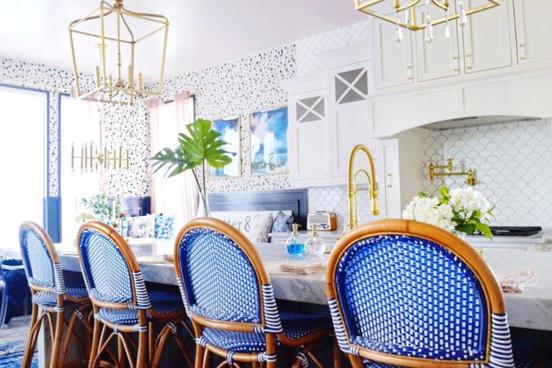 THE REVEAL: Modern Coastal Glam Kitchen Makeover » We're The ... on