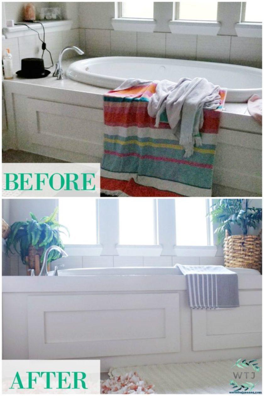 Beautiful master bathroom refresh on a budget we 39 re - Bathroom decorating ideas on a budget ...