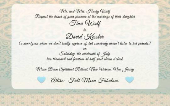 WereWatchers - Advice - Wedding Attire - Invitation