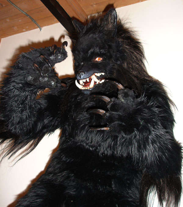 Realistic wolf costume