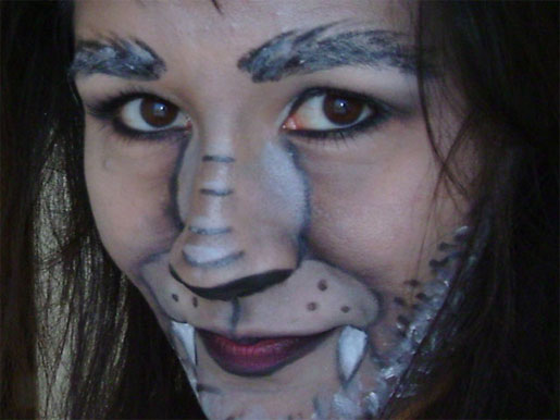 Werewolf Face Paint