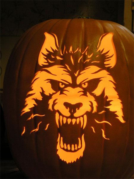 Werewolf pumpkin designs news