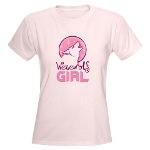 Pink Werewolf Girl Shirt