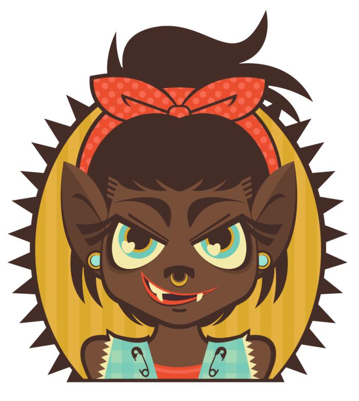 Werewolf Lady Portrait by Lindsay Small