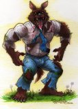 "Weekly Werewolf Art: ""Ghostbusters Werewolf"" by Nick Bondra featured image"
