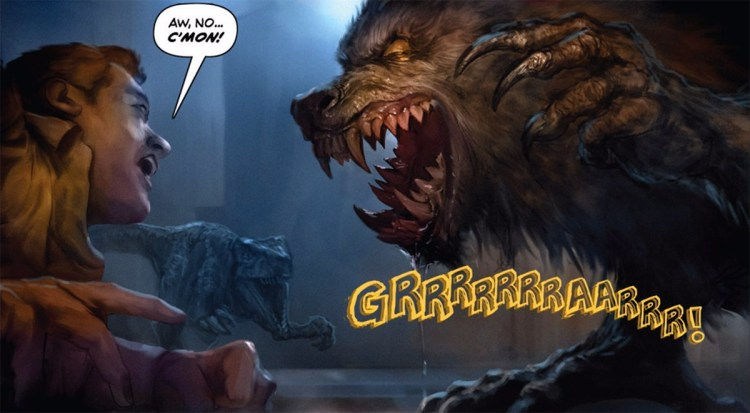 "They made a comic called ""Werewolves Vs. Dinosaurs"" and it's a lot of fun featured image"