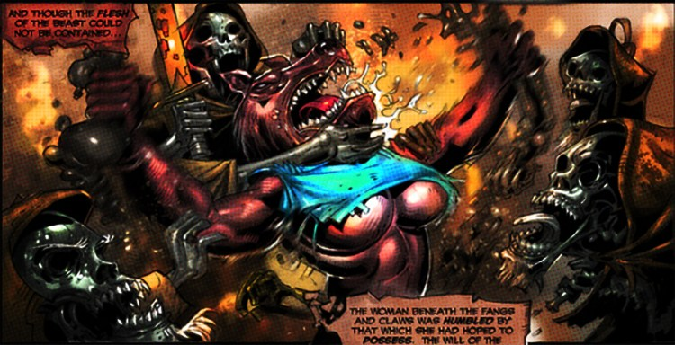 """Werewolf woman versus zombie Templars in """"Ascension of the Blind Dead!"""" comic featured image"""