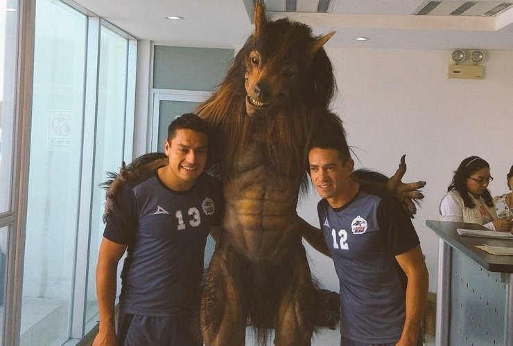 Sorry, football fans! That scary werewolf suit is not a new team mascot featured image