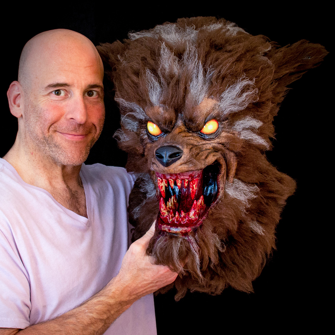 "Russ Turk's ""Hungry Werewolf"" mask embodies the spirit of 80's cartoon menace featured image"