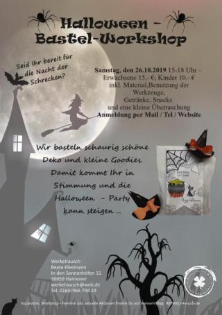 Halloween Bastelworkshop Ankündigung