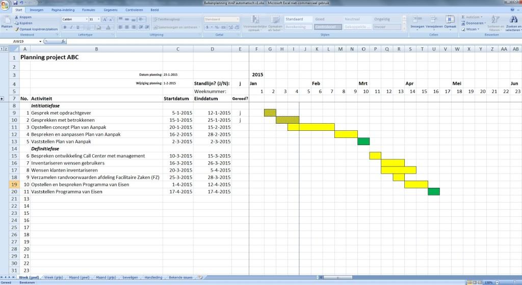 Strokenplanning - Werken aan Projecten