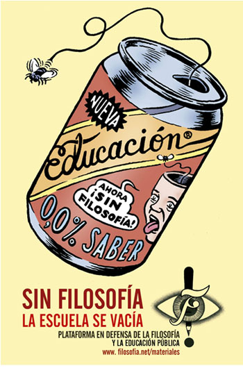 Chile - Educación media sin Filosofía, estudiantes que no interrogan su hacer