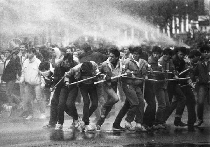 España: El levantamiento estudiantil de  1986 /87