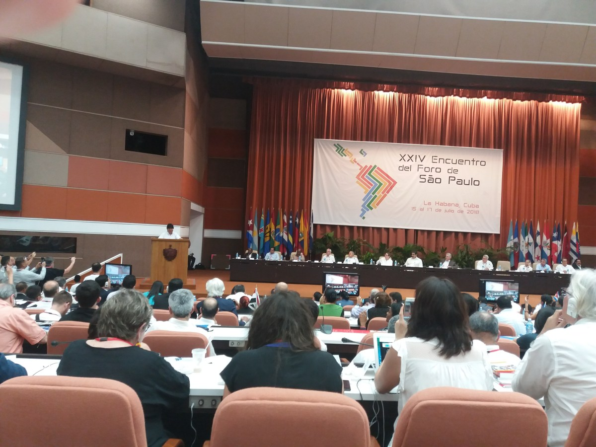 Declaración Final del Foro de Sao Paulo. Izquierda de AL y el Caribe reunida en la Habana, Cuba. XXIV Encuentro