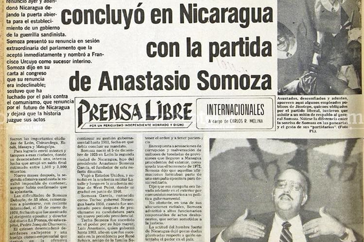 """Aniversario - """"Tachito"""" Somoza es derrocado en Nicaragua"""