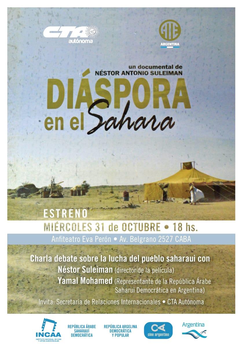 """""""DIASPORA EN EL SAHARA"""" el documental del argentino  Néstor Suleiman, censurado en Argentina por presiones de Marruecos"""