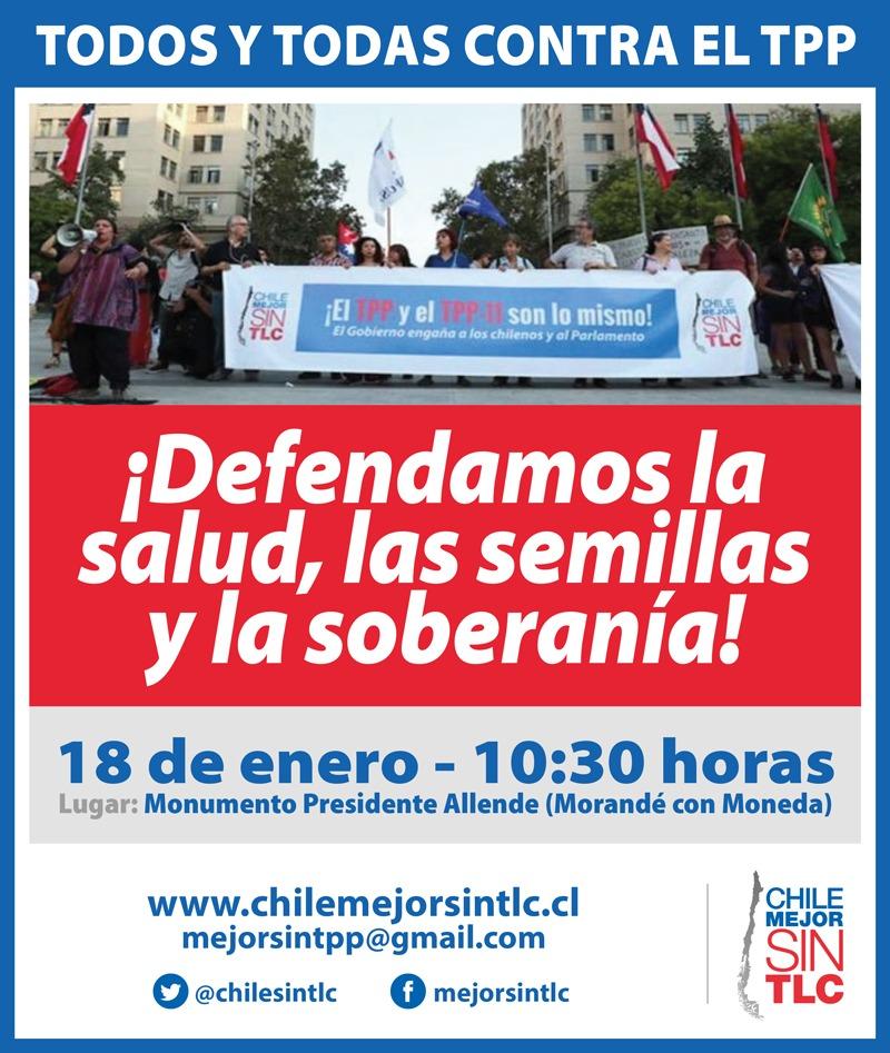 Imponiendo Suma Urgencia para que se apruebe el TPP, el Gobierno de Piñera pretende emboscar a la sociedad Chilena y al Congreso.