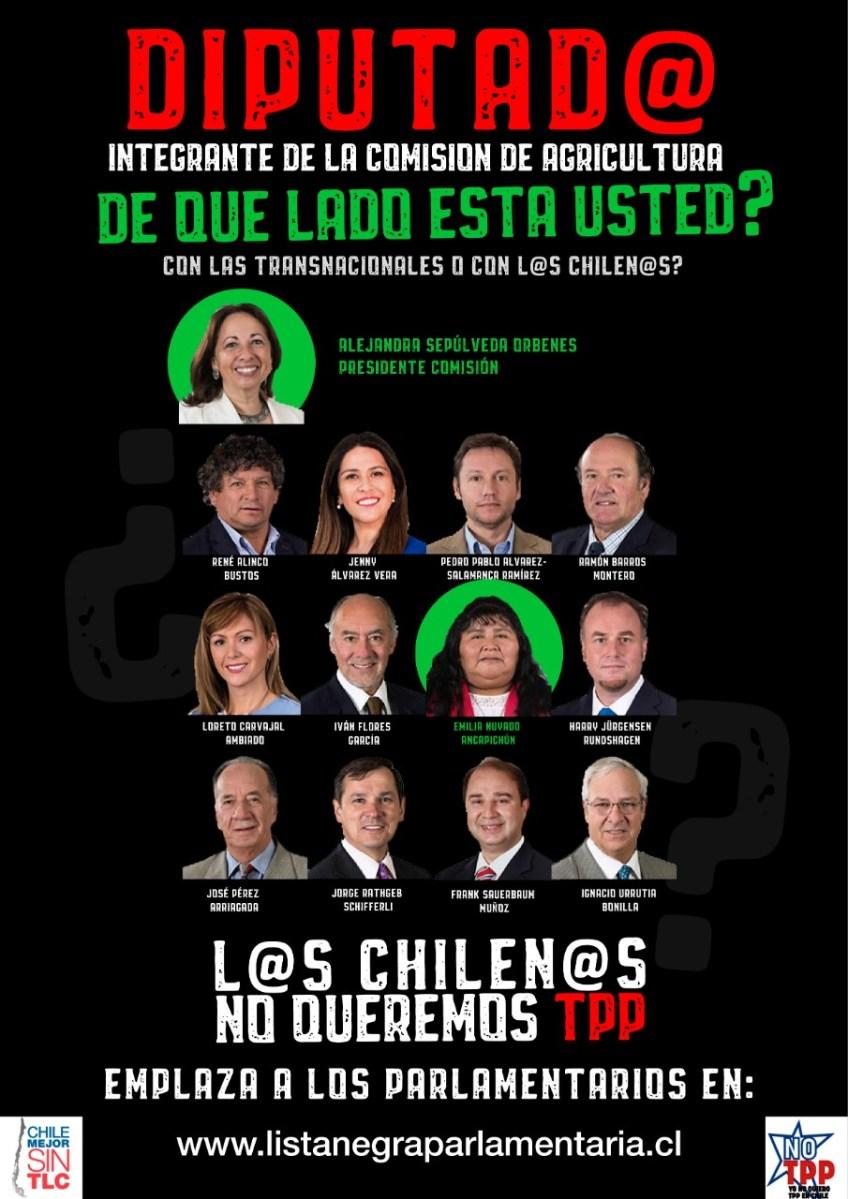 Chile Mejor sin TLC envía carta a diputad@s exigiéndoles que voten contra el TPP-11.