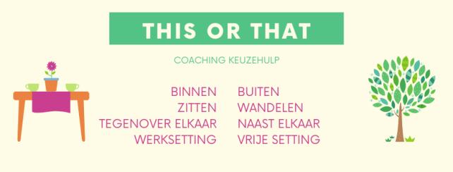 Keuzehulp om te kiezen tussen wandelcoaching en gewone coaching