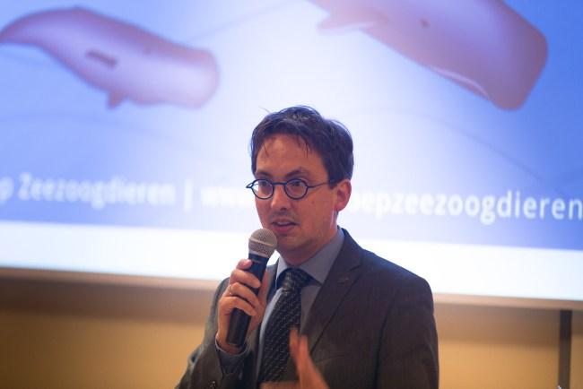 Michiel Uitdehaag (burgemeester Texel): 'zeezoogdieren verbinden mensen'.