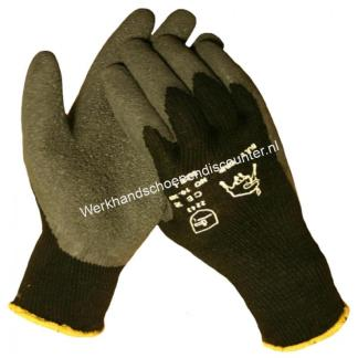 Werkhandschoen BULL – GRIP THERMO zwarte latex