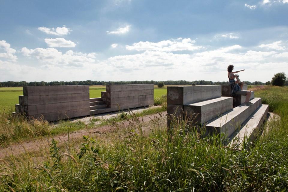 Deze Belvedere benadrukt de cultuurhistorische en natuurlijke kwaliteiten van het landschap van de Drentsche Aa (Strootman Landscape Architecture)