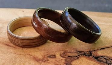 Holzringe aus Eiche