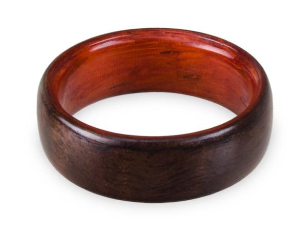 Holzring aus Räuchereiche und Padouk
