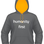 humanity first hoodie