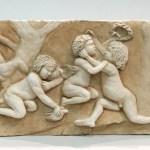 Bas relief en terre cuite patinée,d'après Bouchardon cours de modelage adultes