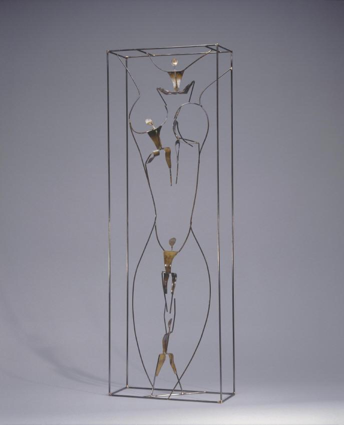 Sculpture, Echappée belle, Guillaume Werle, Acier, laiton, bronze