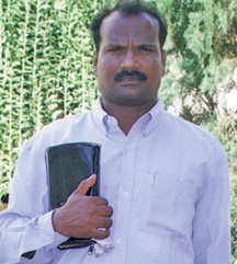 Pastor K. Albert, part of the HBI India Team which engages in evangelism and church planting in India