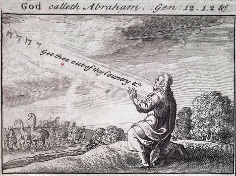 God Calls Abraham, State 2 by Wencelas Hollar (1607-1677)