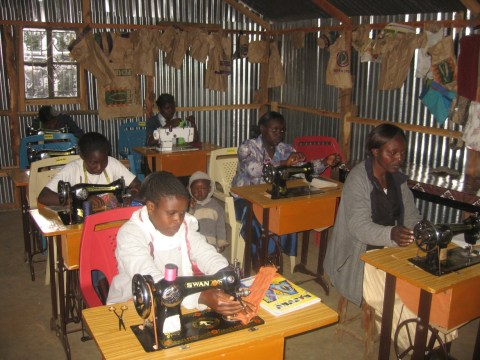 Sewing class in Kenya through Mission ONE cross-cultural partnership