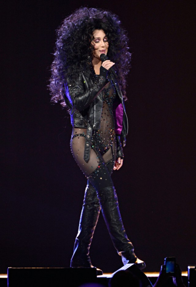 "Cher doing ""If I Could Turn Back Time""."
