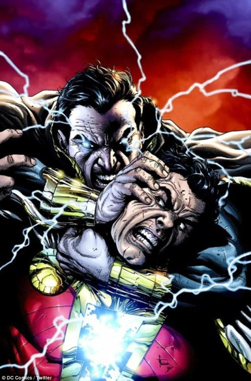 The Rock...er....I mean Black Adam says know your damn role Shazam!