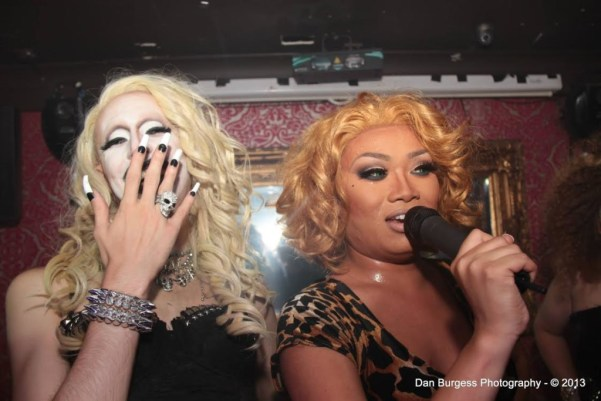 Meth hosting with Jujubee in 2013, before the Meth Lab took off (Photo by Dan Burgess Photography)