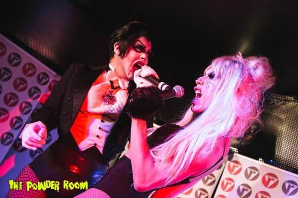 Alaska and Sharon performing together @ The Powder Room. Photo by Josh Hiatt.