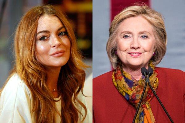 Lindsay-Lohan-Hillary-Clinton
