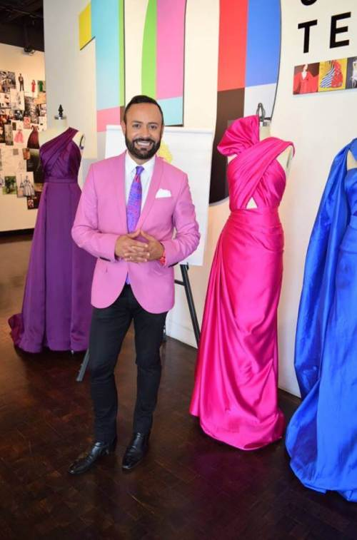 "Nick Verreos at the launch of his new book ""A Passion for Fashion""."