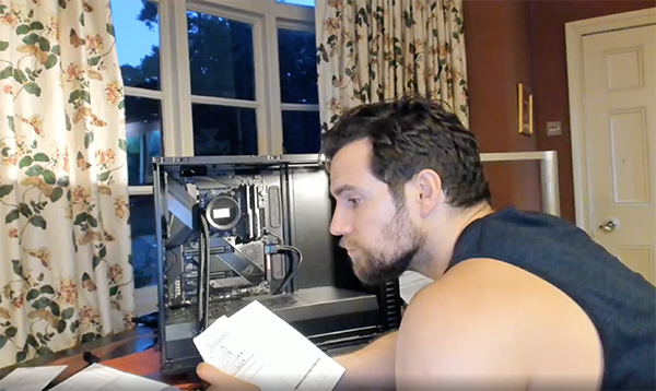 Henry Cavill Assembled A Computer On Instagram And We Have Questions 10