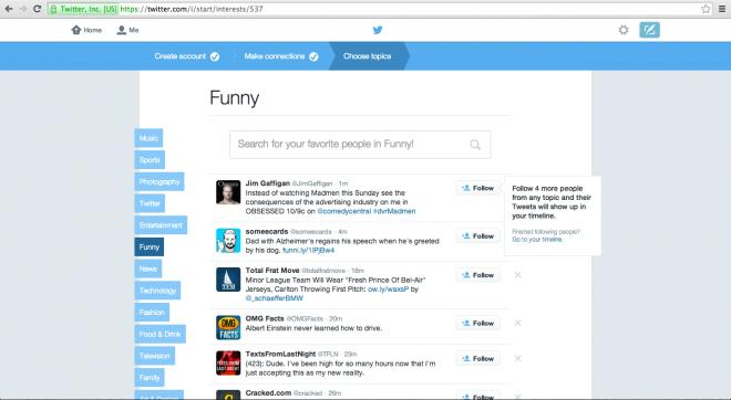 new twitter signup process