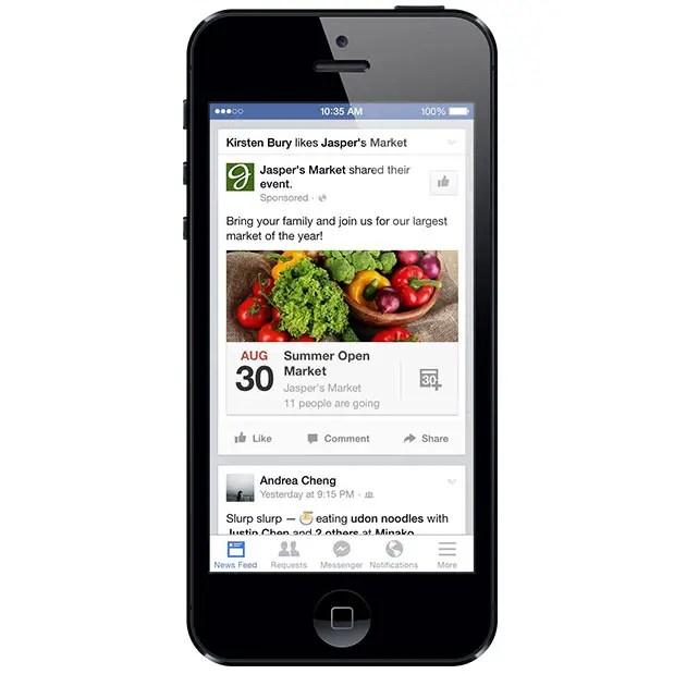 Facebook events ads newsfeed desktop mobile wersm