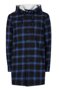 wersm-topman-Hooded Longline Casual Shirt