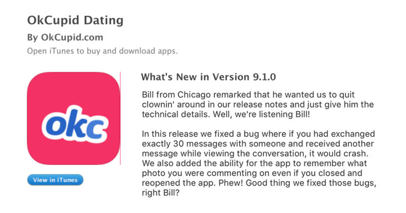 wersm tnw okcupid developers release notes